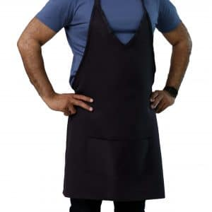 v-neck tuxedo aprons with pockets