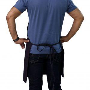 tie straps of v-neck tuxedo apron