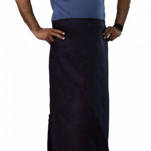 professional black bistro apron