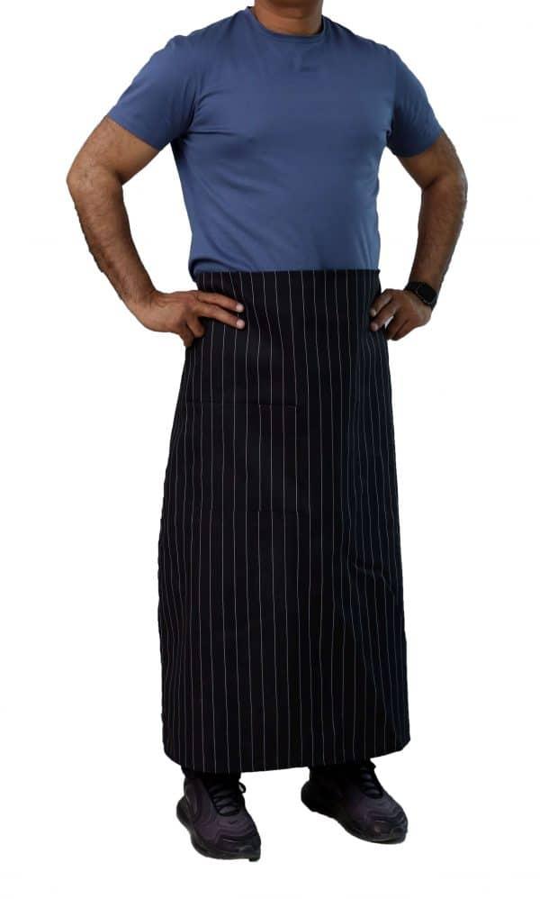 black pinstripe bistro apron