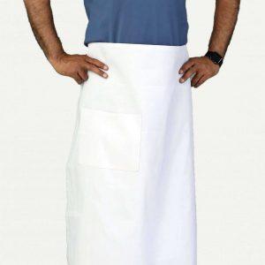 professional white bistro apron