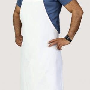 economy white bib apron 34x34