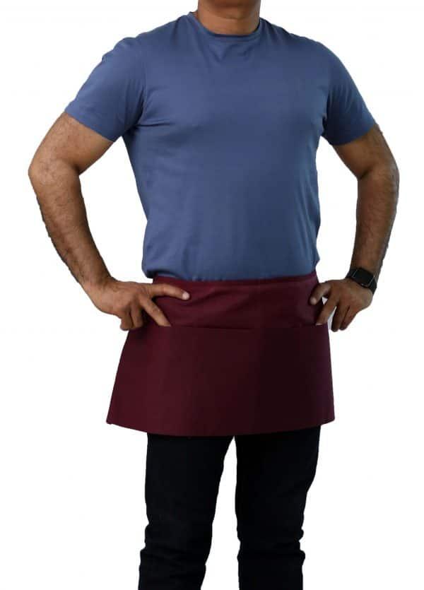 12 x 26 burgundy waist aprons