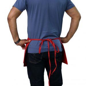 red color waist apron