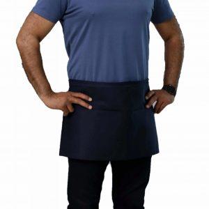 navy blue professional waist apron