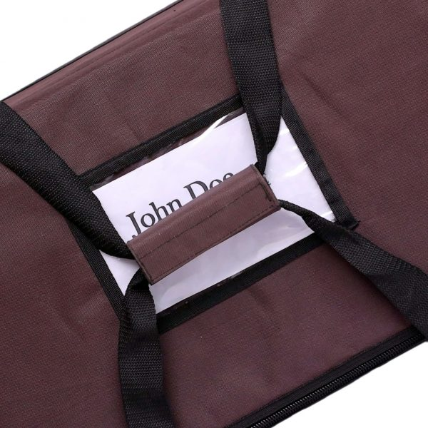 Brown color food delivery bags with label card
