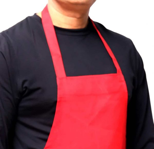 Red Chef Apron's Neck Style