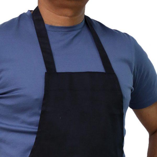 black chef's apron neck design