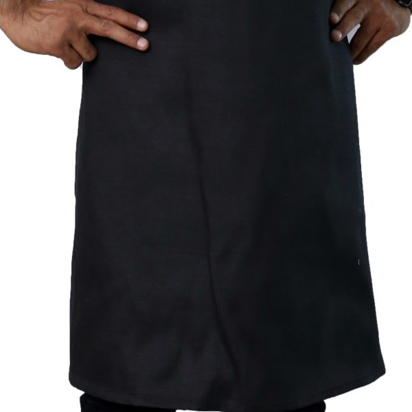black economy apron with no pockets
