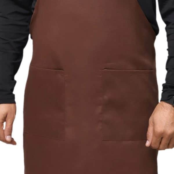 Brown Adjustable Apron with Pockets
