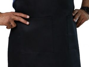 black adjustable apron's pockets