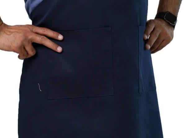 Navy Blue Adjustable Apron's Pockets