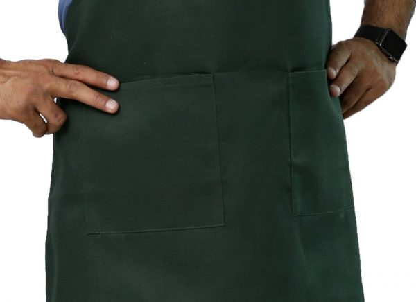 Green Color Adjustable Apron's Pockets
