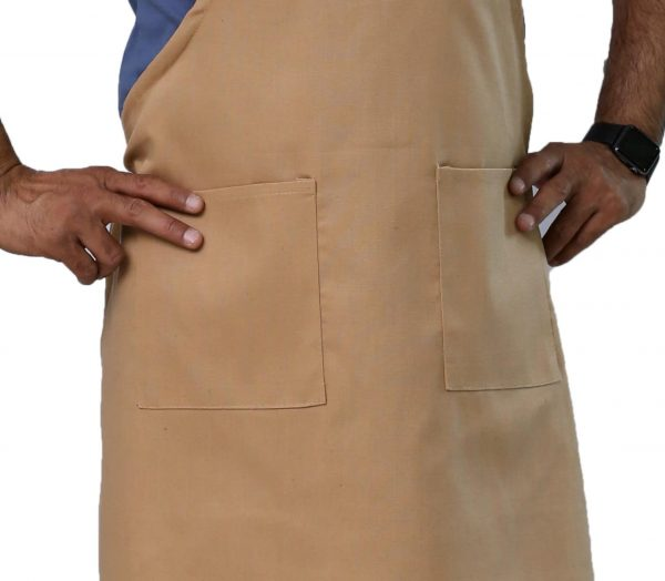 Khaki Adjustable Apron's Pockets