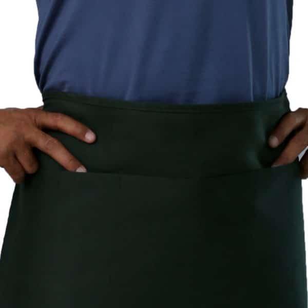 Hunter Green Waist Aprons Pockets