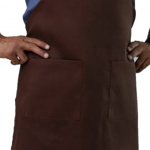 Brown Adjustable Apron's Pocket