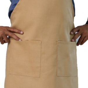 beige apron's pockets design