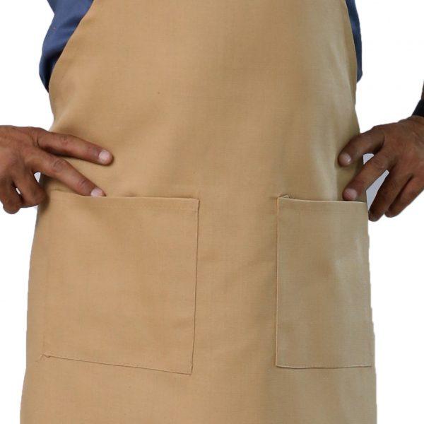 beige apron's pockets design