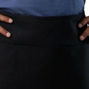 black waist apron's pockets