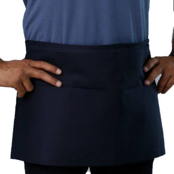 navy blue stylish waist apron