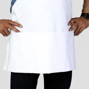 25 x 30 White Restaurant Apron with Pockets