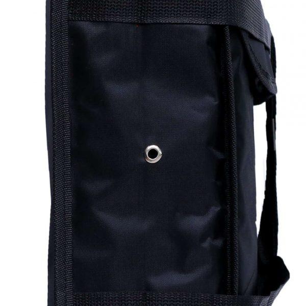 Steam Vents in Black Pizza Bag