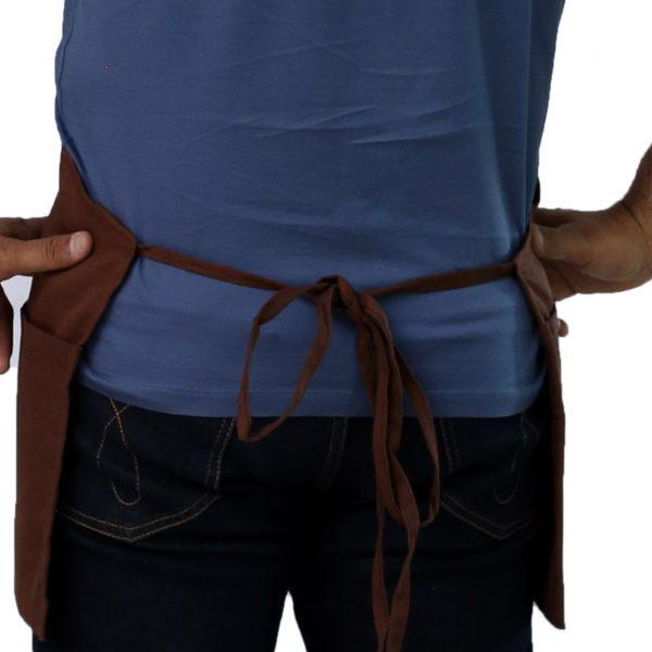 brown apron tie straps