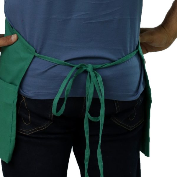 restaurant apron with long tie straps