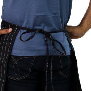 chef apron's tied straps
