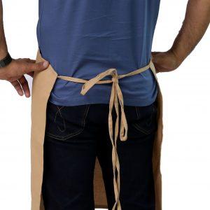 beige kitchen apron's tie straps