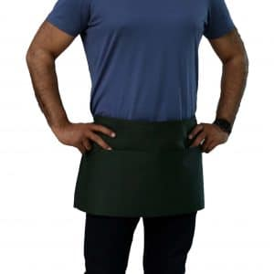 hunter green waist aprons