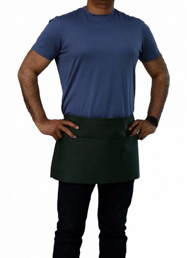hunter green waist aprons