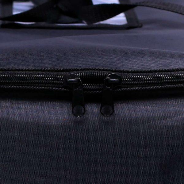 black zipper closure food delivery bags