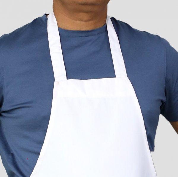 professional white color apron's neck
