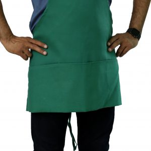 Kelly Green Apron with Pockets