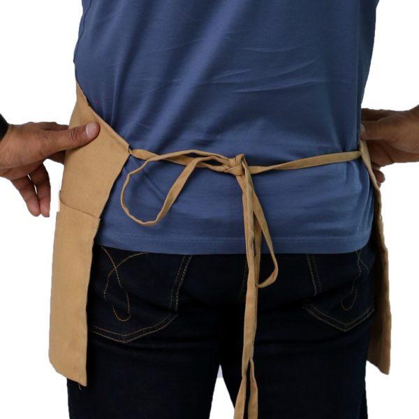 khaki apron tie straps